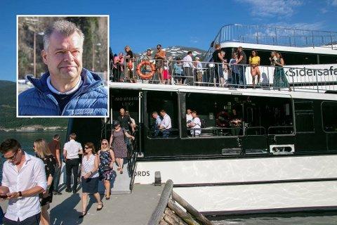 Øyvind Stueland er styreleiar i Hardanger Internasjonale Siderfest. Båten Vision of the Fjords kjem tilbake og startar sesongen i siderhelga.