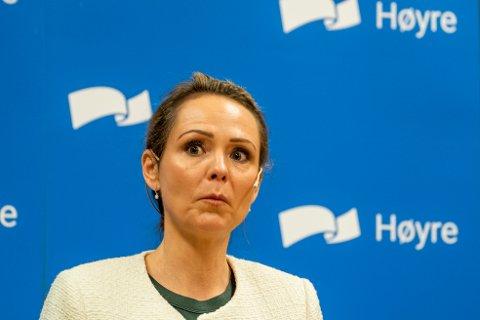 Distrikts- og digitaliseringsminister Linda Hofstad Helleland (H) lovar ein ekstra milliard til kommunane.