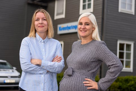OVERTAR: I ein periode overtar Elisabeth Berg Hass (t.v.) som redaktør og dagleg leiar. Mona Grønningen skal snart ut i mammapermisjon.
