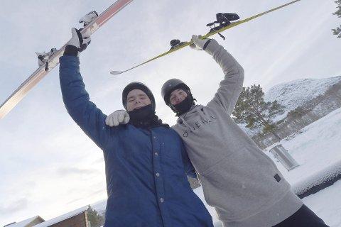 TATT UT: Både Henning Hansen Pytte (t.v.) og Trym Sunde Andreassen er tatt ut på juniorlandslaget i freeski sesongen 2016/17.
