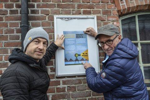 SKAL INSPIRERE: Filmregissør Jørn Stenersen (t.v.) og medielærer Hans Morten Wærp skal holde workshops der ungdom skal lage musikkvideoer.