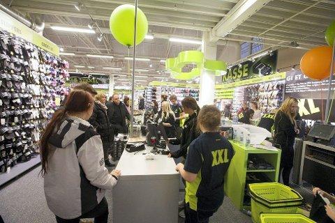 Sportskjeden XXL har ingen konkrete planer, men ser på Kongsberg som et interessant marked.