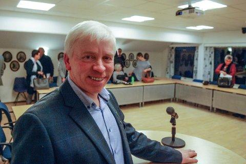 GLAD: Ordfører i Flesberg, Oddvar Garaas, smilte fra øre til øre etter at budsjettet enstemmig ble vedtatt.