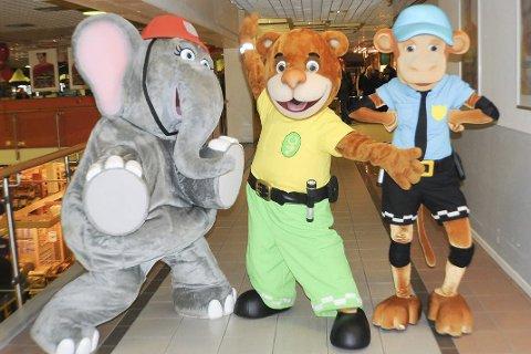 Barne-tv-helter: «Elfie», «Ted» og «Apa» fra Vennebyen kommer til Kongsberg.