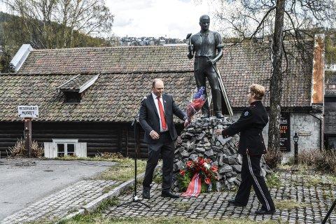 Bergmannen: Også i år blir det arrangement foran Norsk Bergverksmuseum 1. mai. Bildet er fra fjorårets markering.