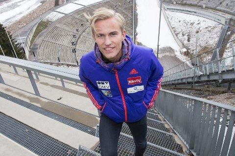 SKADET: Daniel-André Tande får ikke hoppe på ski på seks uker.