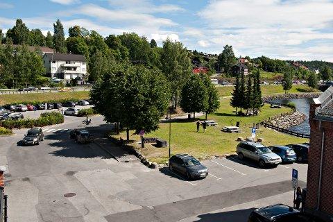 OBSERVASJONER: Publikumsobservasjoner fra dette området nær Kongsberg sentrum  natt til i går er interessant for politiet. En ung kvinne skal her ha blitt overmannet av flere menn og senere dratt in i et hus.