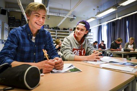 Makkerskap: Simen Ulleberg Tråstadkjølen (t.v.) og Martin Bråtun har vært makkere i kun noen dager, og usikre på hvilken effekt prosjektet vil få. Foto: Eigil Kittang Ramstad
