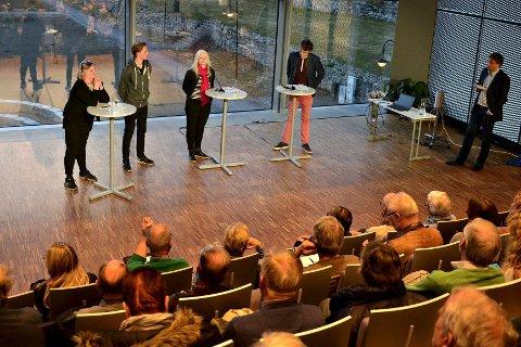KONGSBERGDEBATTEN: I november blir det debatt om ytringsfrihet. Bildet er fra vårens utgave av Kongsbergdebatten som omhandlet byutvikling.
