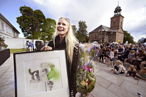 PRISVINNER: Susanna Wallumrød mottok den store musikerprisen under fjorårets jazzfestival.