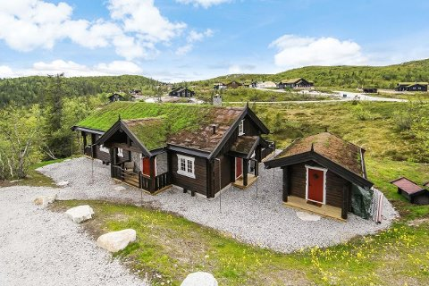 Vegglifjell, hvor denne hytten står, er et populært hytteområde.