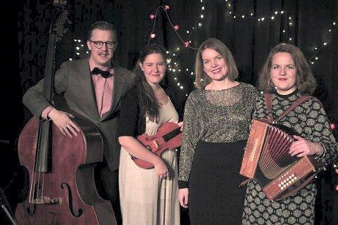 KVARTETT: Jul i Nord underholder i Hedenstad kirke 13. desember sammen med sangere fra Kongsberg pikekor.