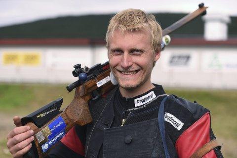 GULLGUTT: Kim-André Aannestad Lund var best av alle på standardgevær 300 meter i militært VM fredag.