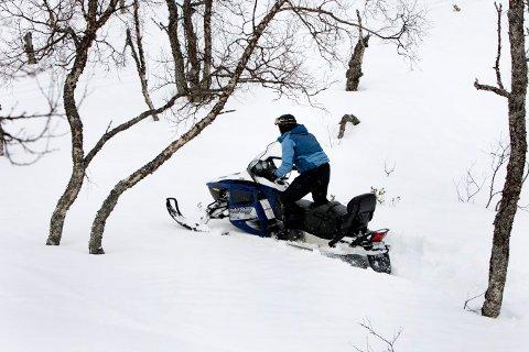 INTERESSE: Nore og Uvdal ville ha snøscooterløype, men fikk ikke en ordning med grunneierne. Nå sier politikerne i Flesberg at de er interesserte i å legge til rette for en løype i deres kommune.