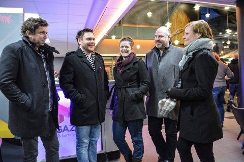 KLARE FOR FEST: Funked up skal spille på Magazinet 17. februar. Fra venstre: Sigmund Ruud, Thomas Knutsen, Ranveig Aasland, Rune Bakke og Ranveig Hjorthaug.