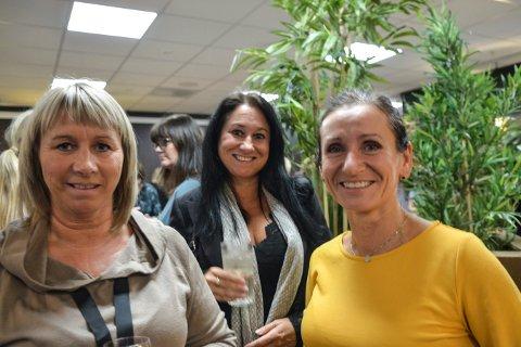 Damenes aften. Fra venstre: Astrid Lien, Mona Melås og Lillian Simones. Foto: Mona Sandviken