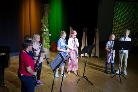 FEIRINGEN FORTSETTER: Kongsberg kulturskole er 25 år i år. Det ble markert under Sommerkult i juni, hvor bildet er fra, og det skal markeres neste uke.