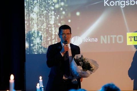 FIKK PRIS: Geir Håøy ser på prisen som en anerkjennelse til Kongsberg som helhet.