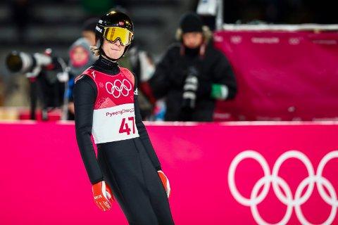 Pyeongchang , Sør-Korea 20180217. Daniel-André Tande etter sitt hopp i første omgang i stor bakke i Alpensia Ski Jumping Centre under vinter-OL i Pyeongchang.  Foto: Terje Pedersen / NTB scanpix