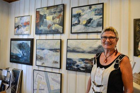 NATUREN: Sonja Sandbakk Nilsen har atelier i Landstadsgate på Tislegård, og åpner dørene de to kommende helgene.