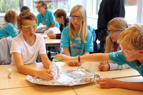 FORSK I VEI!: Det er fortsatt noen ledige plasser til Forskerfabrikkens sommerskole på Uvdal skole. Her fra samme skole i 2015.