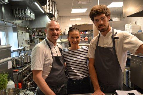 FAMILIEBEDRIFT: Marlenes Bistro drives av Marlene Sandtner, pappa Alex Sandtner og Johannes. Hele familien er stolte over å ha blitt kåret til Kongsbergs beste restaurant.