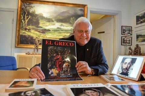ER TILBAKE: Arne Gyttrup er ute av styret i Labro Art, men er tilbake som foredragsholder. Torsdag holder han foredrag om El Greco i Labrostua.