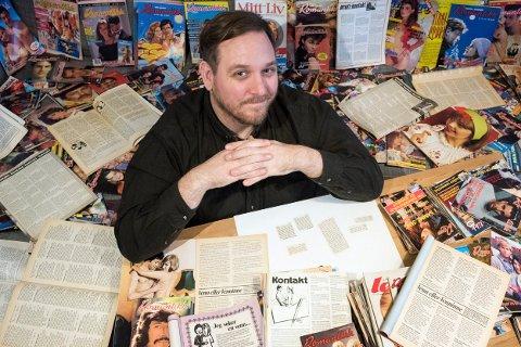 MYE LITTERATUR: Eirik Lande fra Kongsberg har samlet kontaktannonser. Nå gir han ut bok.