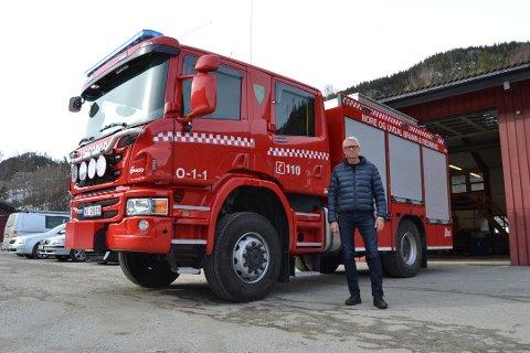 ØVELSE: Brannsjef i Nore og Uvdal, Kai Redalen skal ha brannøvelse med sine brannmannskaper på en hytte ved Tunhovd onsdag.