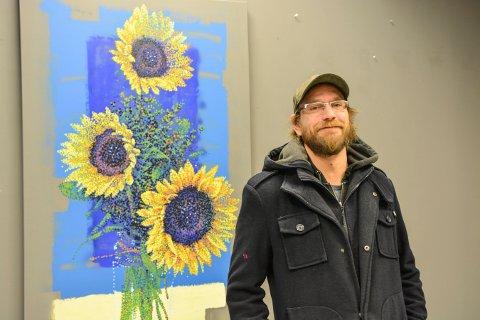 NYE MALERIER: Kenneth Stordalen har utstilling i Verk-Stedet de tre kommende helgene.