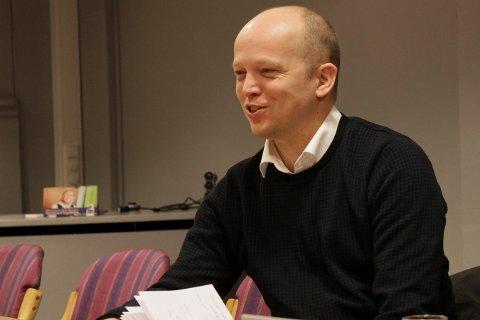 PÅ VEI: Senterparti-leder Trygve Slagsvold Vedum kommer til Numedal og Kongsberg torsdag 19. mars.