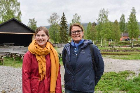 GLEDER SEG: Helena Hafthorsdottir Lindheim (t.v.) og Liv Berven lover innholdsrike dager under Matfestivalen i Numedal 28. - 30. juni.