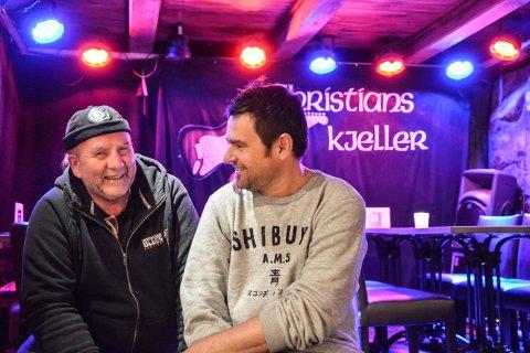 ER KLARE: Kongsberg bluesklubb ved leder Håkon Uppstrøm (t.v.) arrangerer rockekonsert i Christians kjeller lørdag 15. juni. Torgeir Wetterhus og resten av bandet Solide saker lover fullt trøkk.