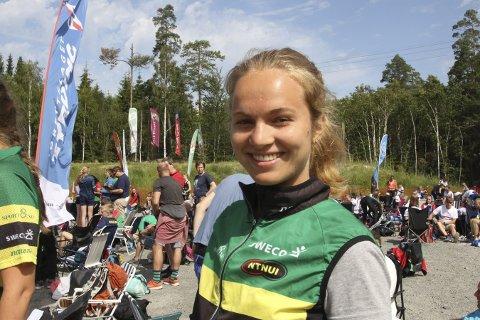 VM-KLAR: Kongsbergjenta Åsne Skram Trømborg er klar for sitt første senior-VM i orientering. Hun har dobbelt statsborgerskap og skal løpe for USA.FOTO: ERIK BORG