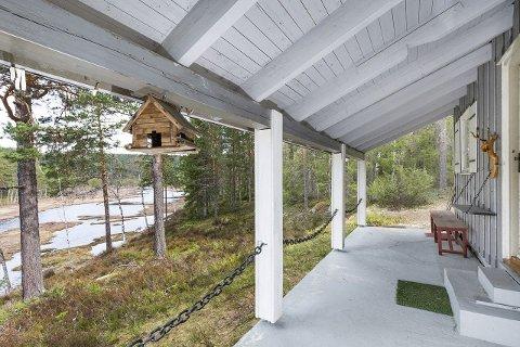 Omlag 25 minutter fra Norefjell finner du denne hytta ved Bjørevatn i Sigdal. Med en prisantydning 600.000 blanke kroner kan du få deg denne utsikten.