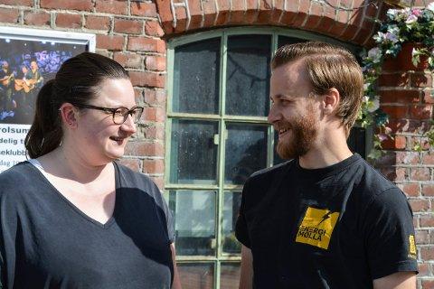 Ledelsen på EnergiMølla. Nina S. Kleven og Kjetil Lurås. Foto: Mona Sandviken