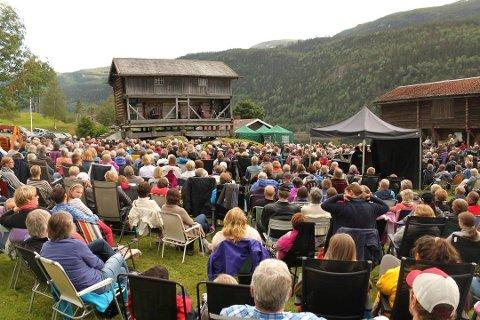 Til neste år feier middealderuka 20-års jubileum. Her fra et tidligere arrangementpå Søre Kravik gård.