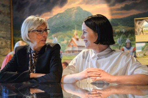 HAR STORE PLANER: Direktør Alfhild Skaardal og prosjektleder Ida Anderson Notvik ved Norsk Bergverksmuseum skal fornye museet.