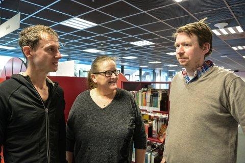 ARRANGØRER: Matthias Anger (t.v.), Hilde Wedde og Even Thunes Jensen og en rekke andre aktører er med på det de kaller Beethoven 2020 i Kongsberg.