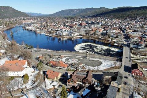 ENDRINGER: Kongsberg by er i stadig endring. Mange prosjekter er allerede i gang og flere nye vil sette preg på byen. Neste år ser det ganske annerledes ut.