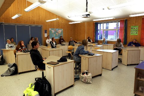 TEKNOLOGISEMINARET: Elevene i 10A på Skrim ungdomsskole fikk være på digitalt seminar i år.