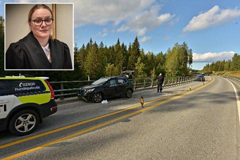 Alvorlig sak:  På E134 mellom Damåsen og avkjøringen til Darbu, stoppet politijakten på 50-åringen som hadde villmannskjørt i over en time. Det er tatt ut tiltale mot mannen. Politiadvokat Eldbjørg Håkonsen Martinsen sier de ser alvorlig på saken.