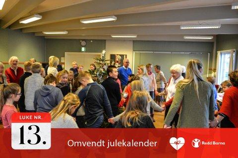 SOSIALE SAMLINGER: Kongsberg diakonat har varierte arrangementer. Her fra en juletrefest Menighetssenteret..