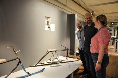 VINTER: Kristian Becker (t.v.), Per Øyvind Østensen og Janne Werner Olsrud på Norsk Bergverksmuseum ønsker velkommen til utstilling og aktivitetsdag 27. februar.