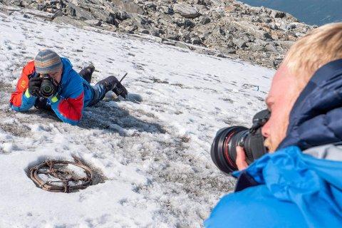 KLIMAENDRINGER: Arkeolog Espen Finstad forteller om bre-arkeologi på Krona 10. februar.