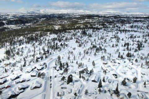 HYTTEBRÅK: Det er mange hytter på Blefjell - og noen driver hytteutleie. Det fører noen ganger til konflikter. Dette bildet er fra Lifjell-området.