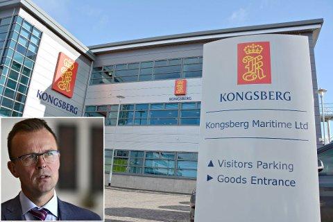 Permittert: I overkant av 100 ansatte i Kongsberg Maritime fikk permitteringsvarsel fredag, og det kan komme flere, opplyser Ronny Lie, kommunikasjonsdirektør i Kongsberg Gruppen.