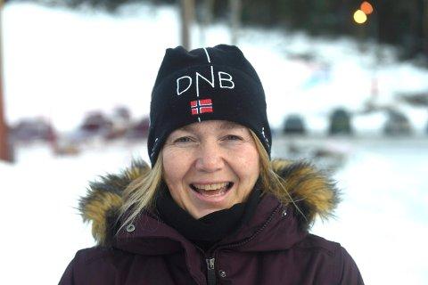 FORNØYD: Hege Steffensen, lederen i KIFs snøbrettgruppe, er fornøyd med deltakelsen.