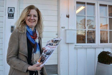 JOBBER ALTERNATIVT: Ellen Kværna i Folkeuniversitetet Senior opplyser at Åpent Verksted har gått digitalt.