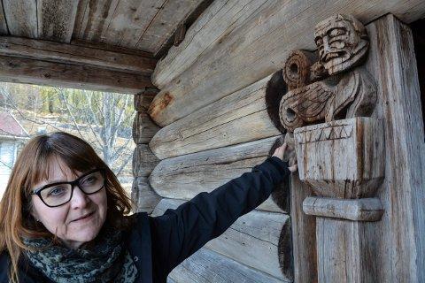 VIKTIG ARBEID: Gry Charlotte Ljøterud Andersen hadde et sterkt engasjement for Kongsbergs og Numedals historie. Her er hun på Kravik i 2019.